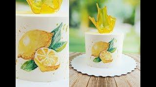 Карамельная ваза. Рисунок на креме/Caramel Vase. Drawing on cream