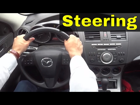 How To Turn A Steering Wheel Properly-Driving Lesson