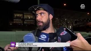 Claudio Bravo llegó a Chile y lanzó: