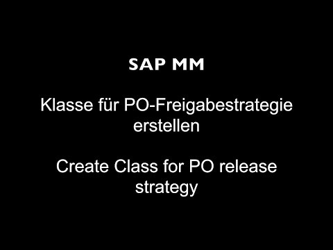 Create Class for PO release strategy
