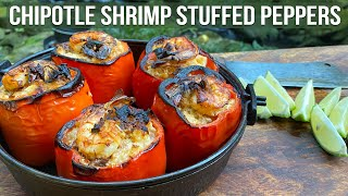 Chipotle Shrimp Stuffed Peppers by the BBQ Pit Boys