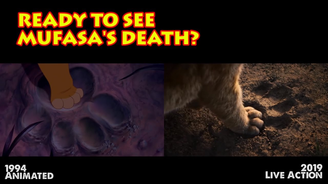 2019 And 1994 Lion King Teaser Comparison Mufasas Death