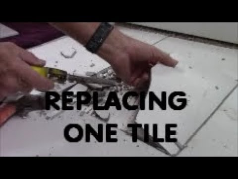 HOW TO REPLACE ONE CRACKED TILE