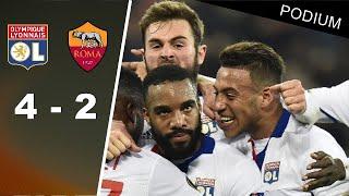Lyon - AS Roma (4-2)   Résumé au son RMC   1/8 de finale Europa League 2017