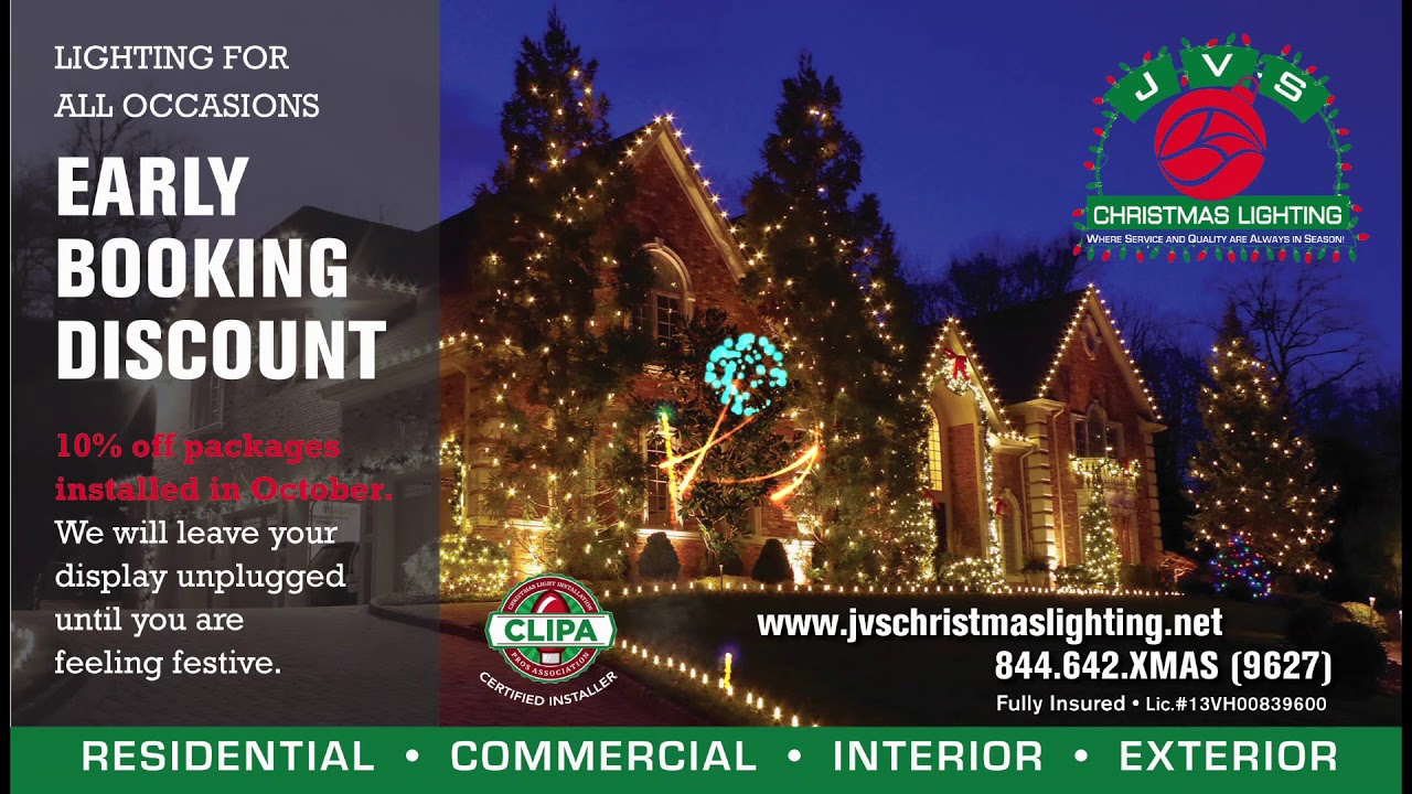 jvs christmas lighting early booking discount