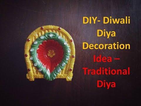 DIY- Diwali Diya Decoration Ideas | Traditional Diya | Kunal's Design 8