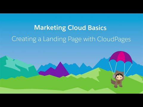 Web Studio & Content Builder- Create A Landing Page With CloudPages