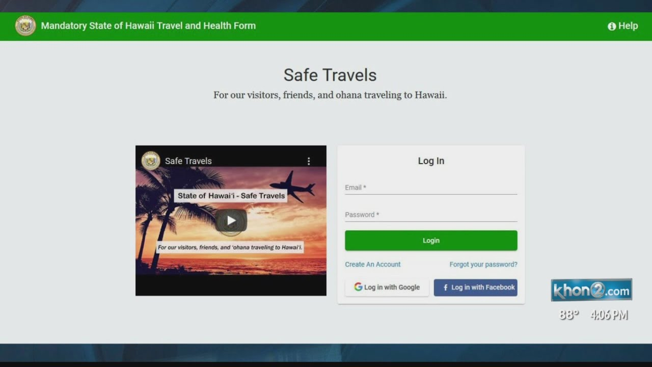 How To Upload Your Hawaii Pre Travel Covid Test Results Youtube