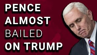 WOW: Mike Pence Offered to Replace Trump As Nominee After