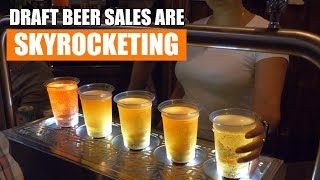 Draft Beer Sales are Skyrocketing! Glenroy's Tavern Bronx NY - Bottoms Up Draft Beer System
