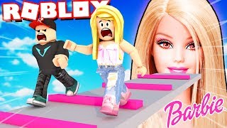 BAD BARBIE WANTS TO CLOSE US IN THE DOLL HOUSE!! (Escape Barbie Obby Roblox) | BELLA AND VITO