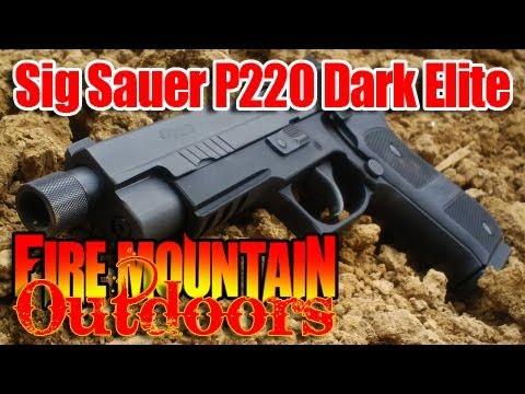 Sig Sauer P220 Dark Elite - Demonstration and Review