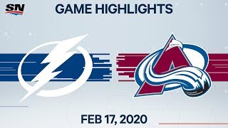 NHL Highlights | Lightning vs. Avalanche - Feb. 17, 2020