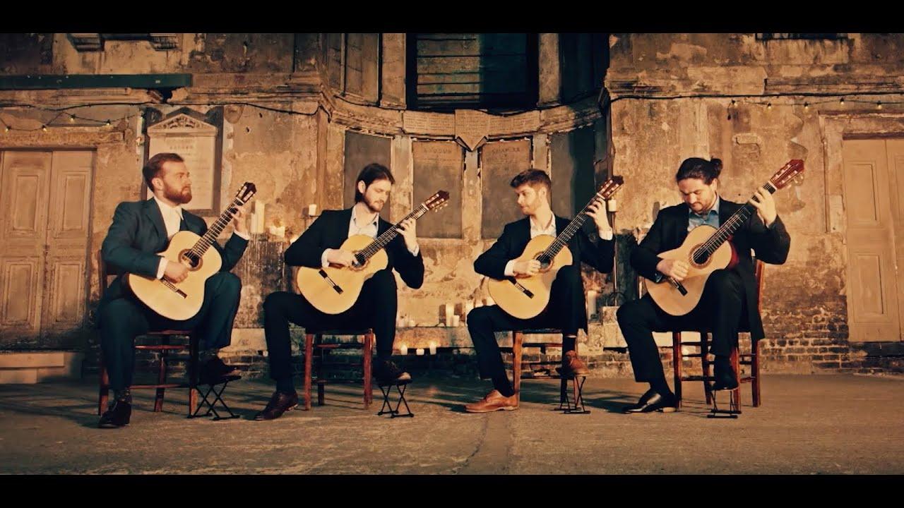 Mēla guitar quartet perform Prélude, Fugue et Variation Op.18 - César Franck
