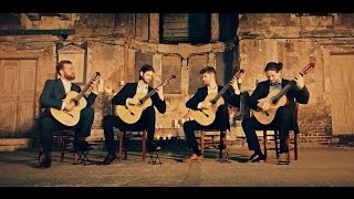 Mēla guitar quartet perform Prélude, Fugue et Variation Op.18 - César Franck