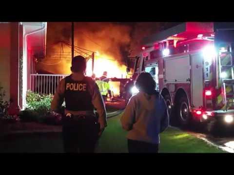 Midnight Blaze On Wilkinson Crescent, Portage la Prairie
