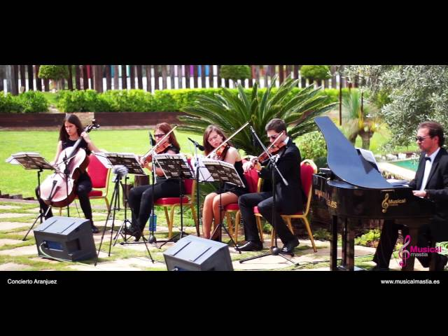 Concierto de Aranjuez Piano y cuarteto de cuerda Boda Finca Buenavista Murcia