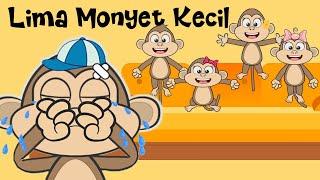 Download lagu LIMA MONYET KECIL ♥ Lagu Anak dan Balita Indonesia | Keira Charma Fun