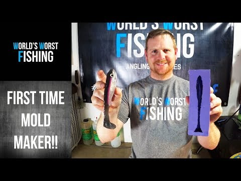 LET'S LEARN MOLD MAKING! Making A Silicone Hand Pour Fishing Lure Mold!