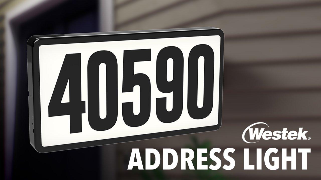 Lighted Address Sign with Number Westek Address Light with Plug-In Transformer