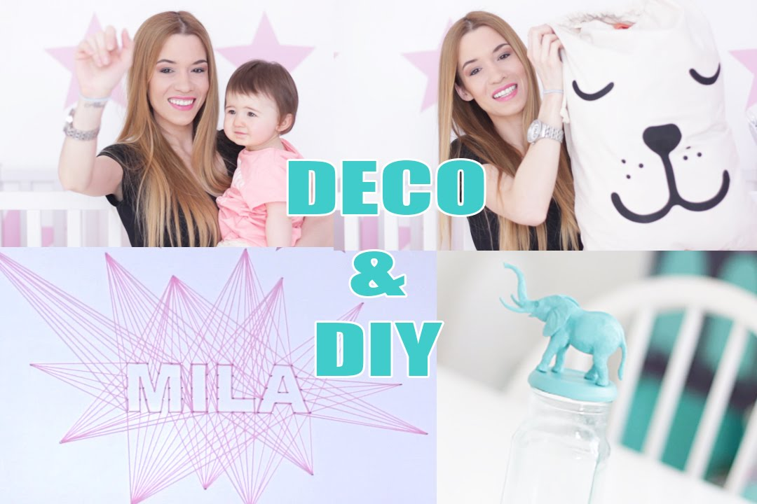 22 diy deco pas chere pour chambre de bebe enfant youtube. Black Bedroom Furniture Sets. Home Design Ideas