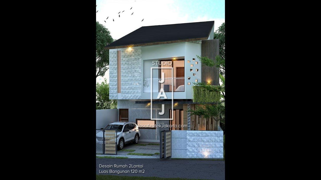 Visualisasi 3d Rumah 2 Lantai Luas 120 M2 Ibu Nicke Di Jakarta Youtube