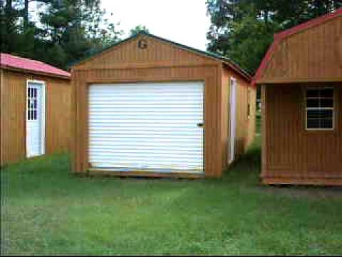 Derksen Portable Buildings 12x32 Portable Garage Doovi