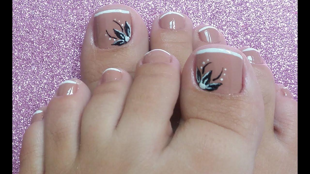 Materiais para unhas decoradas nos pés Flor