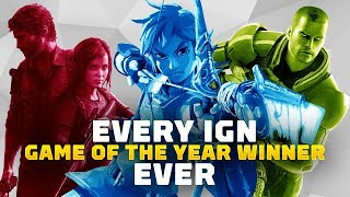 Every IGN Game of the Year Winner Ever