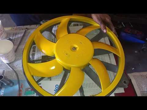 Citroen C4 Radyatör Fanı Sökülmesi işlemi. Ayrıca fan pervanesinin ve fren kaliperlerinin boyanması.