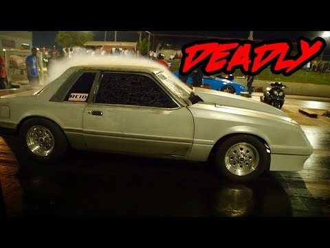 SMH.......THIS NITROUS TAILPIPE MUSTANG WAS RIDICULOUS AT THE BUSTED CLOCKS EVENT! MEGATRON MUSTANG