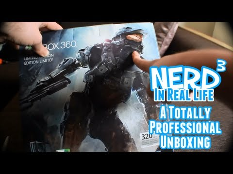A Totally Professional Nerd³ Unboxing - Xbox 360 Halo 4 Edition Console