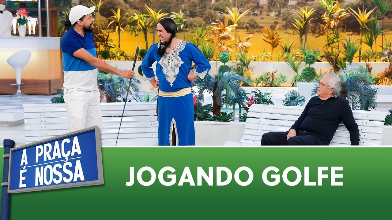 O Cucurucho aprendeu a jogar golfe | A Praça é Nossa (29/07/21)