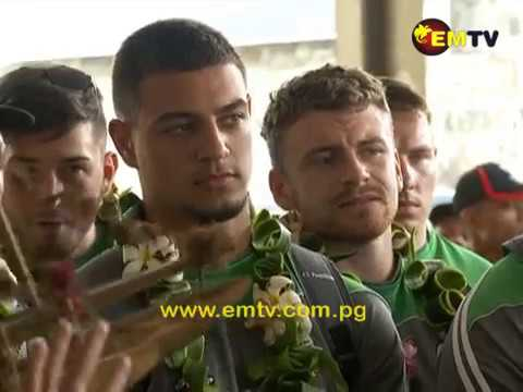 Ireland Rugby Team in Port Moresby for RLWC Round Two Match Against the Kumuls