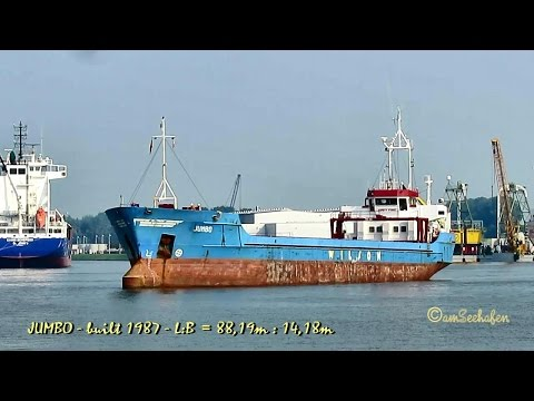 coaster JUMBO 8PAJ8 IMO 8518297 Emden cargo seaship merchant vessel KüMo Seeschiff