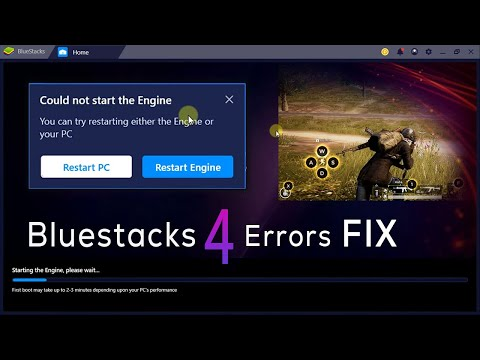 BlueStacks 4 Error FIX - Could not start the Engine - Hindi