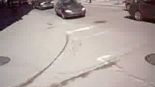 montreal bike messenger hit by a car