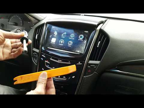 How to Remove Radio / Navigation / Touch panel from Cadillac ATS 2013 for Repair.