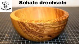 Schöne Holzschale drechseln / Wood turned Bowl - diy