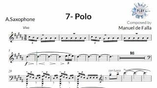 FREE Play-Along for SAXOPHONE: POLO by MANUEL DE FALLA 🎶📲👶🏻🛌🏻 (no metronome in description)