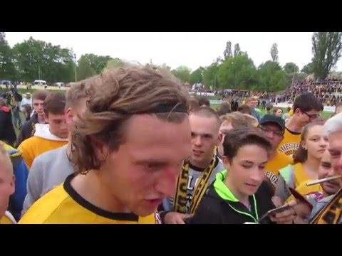 Fußball : NFV GELB-WEIß GÖRLITZ - SG DYNAMO DRESDEN in GÖRLITZ 19052016