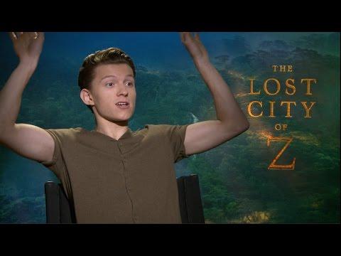 THE LOST CITY OF Z Interviews - Charlie Hunnam, Tom Holland, Sienna Miller SPIDER-MAN SOA