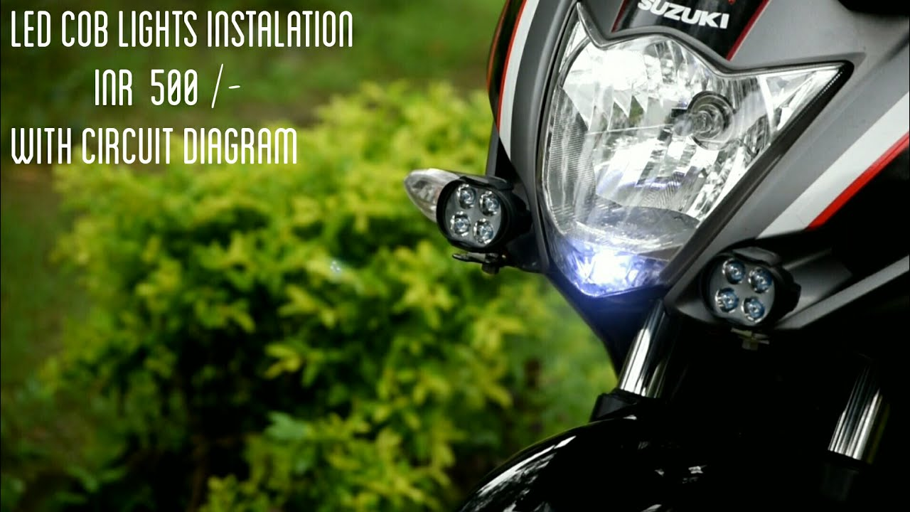 small resolution of led cob lights installation with extra switch circuit diagram india