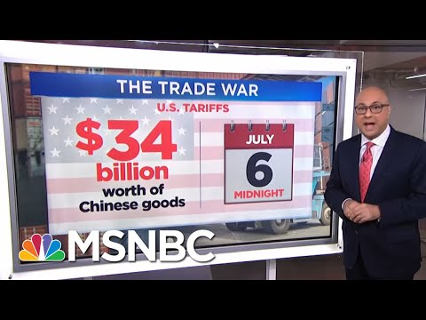 First Shots Fired In The U.S.-China Trade War | Velshi & Ruhle | MSNBC