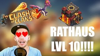 CLASH OF CLANS: RATHAUS LVL 10!!!!! ✭ Let's Play Clash of Clans [Deutsch/German HD]