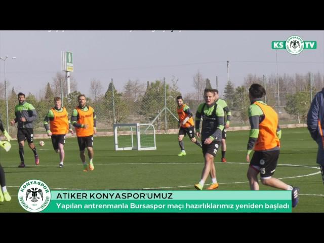 Takımımız Bursaspor maçı hazırlıklarına yapılan antrenmanla yeniden başladı