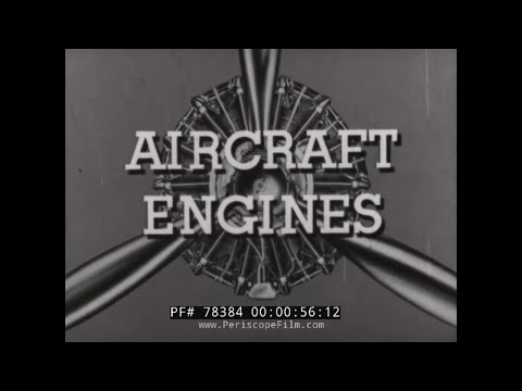 WWII AIRCRAFT ENGINE CARBURETOR TRAINING FILM 1940  78384