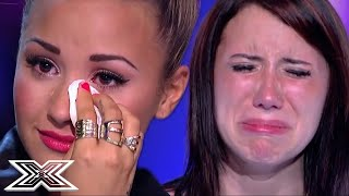 Download Demi Lovato IN TEARS After MOVING X Factor USA Audition | X Factor Global