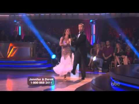 Jennifer Grey and Derek Hough Dancing with the stars WK 8 quick step