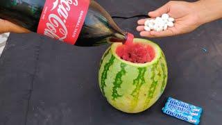 Coca cola inside Watermelon vs Mentos experiment || Top Awesome experiment || Experiment King